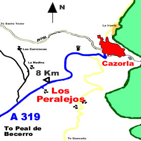 Map of Los Peralejos